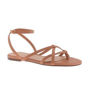 NWT J Crew Pilar Strappy Sandals Pecan size 7